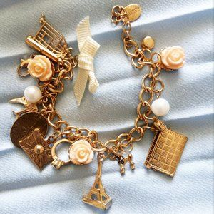 chain bracelet with removable charms
